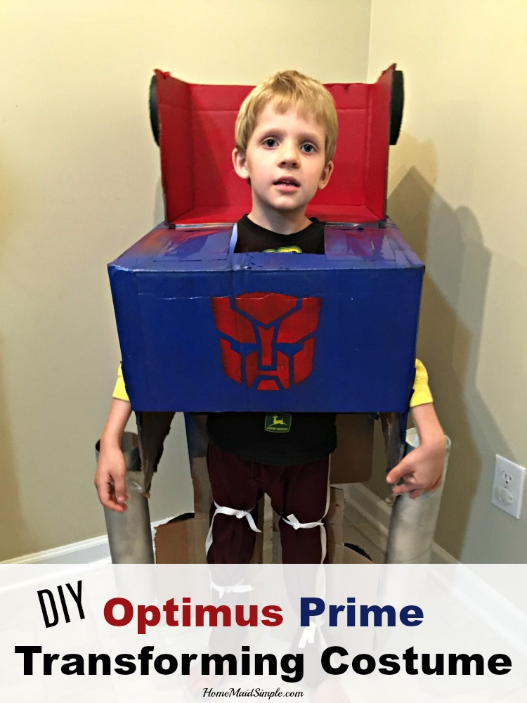 DIY Optimus Prime Transforming Costume