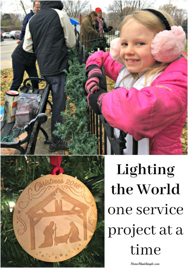 Light the world, one service project at a time. Win a Christmas Ornament!