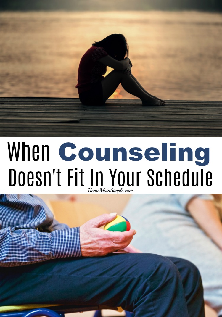 When counseling doesn't fit in your schedule, what do you do? You find alternative counseling methods!