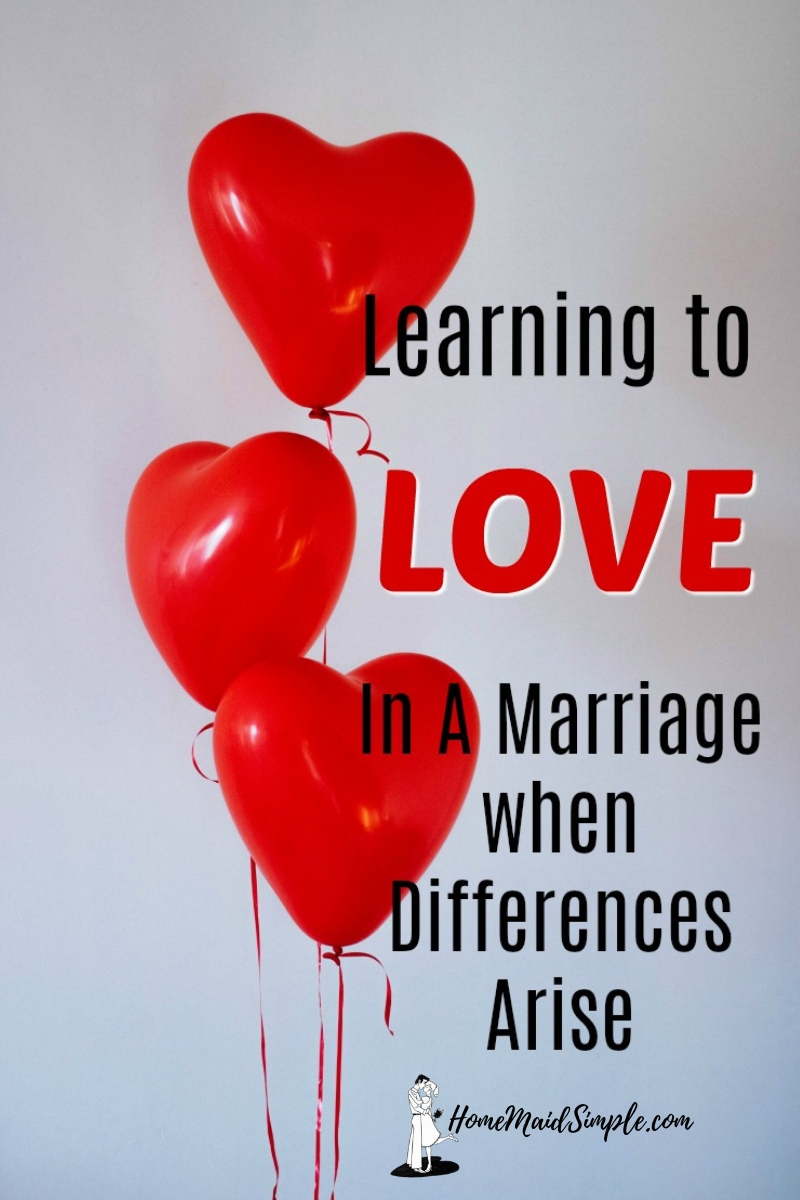 Learning to love in a marriage when differences arise is not a walk in the park. More like a rollercoaster ride with a wind advisory.