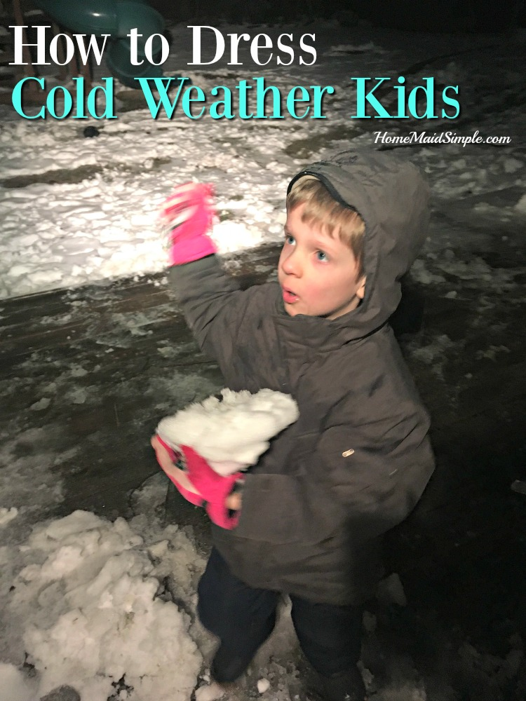 Tips for bundling your kids up for outdoor play in cold weather that will last longer than it takes to bundle them up.