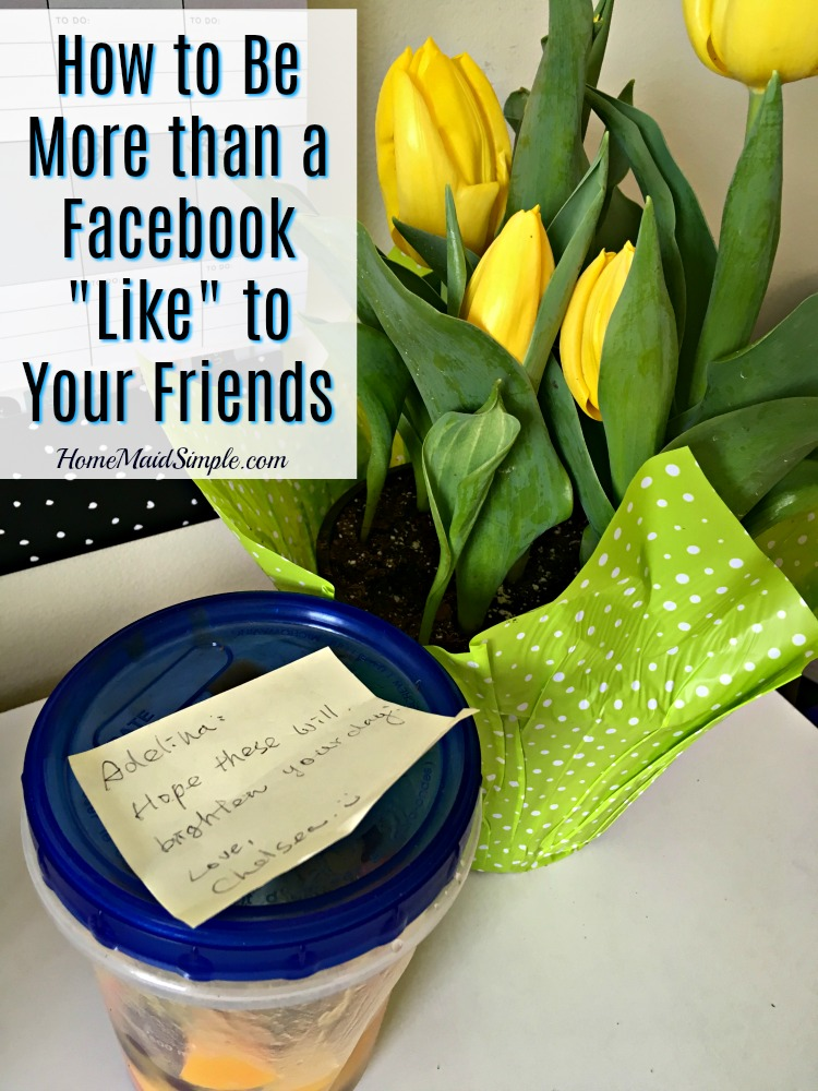 Your friends are worth more of your time than just the occasional like or love on Facebook. Read this story to see how to show your friends they are worth more than a Facebook like.