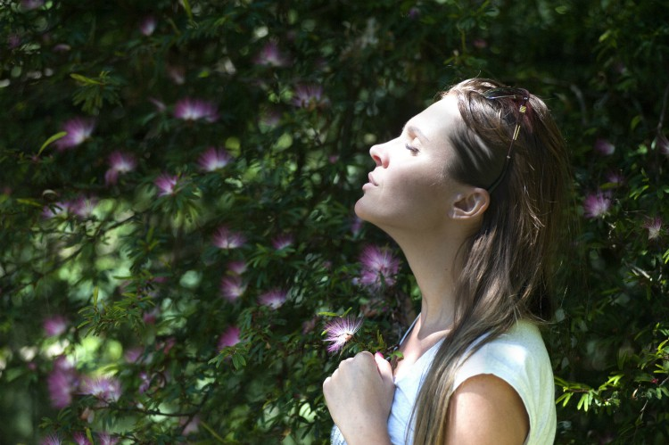 get outside and breathe fresh air