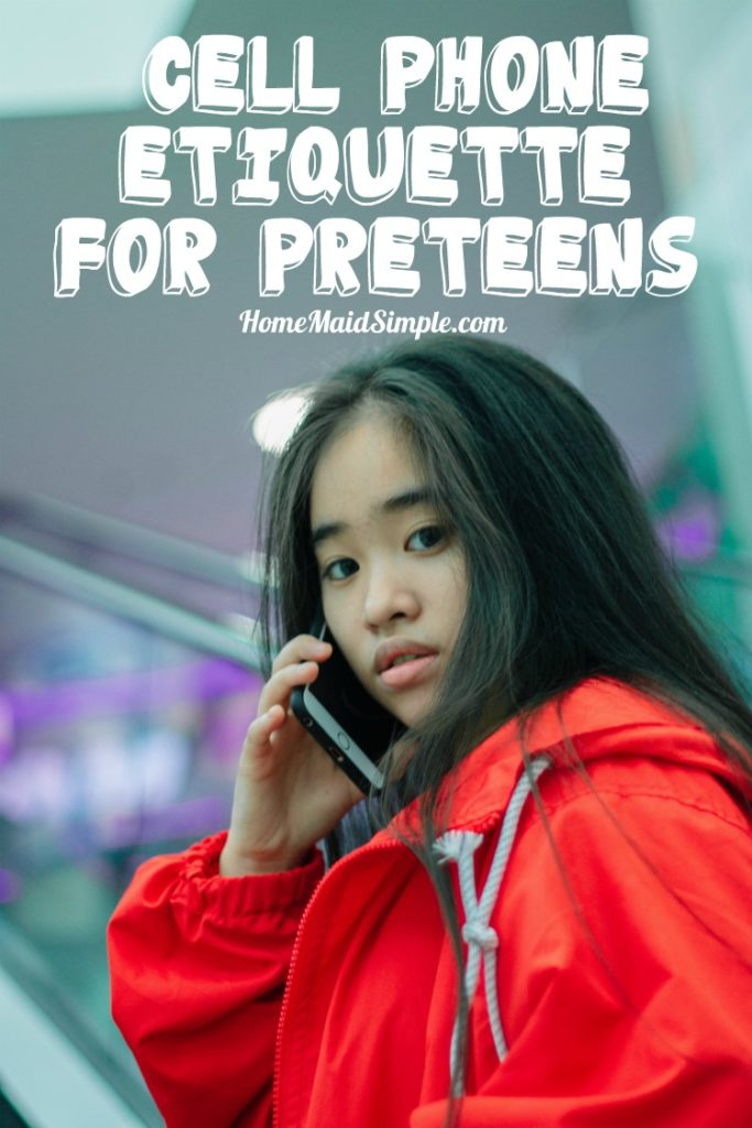 Getting your pre-teen a cell phone? Read these etiquette rules first.