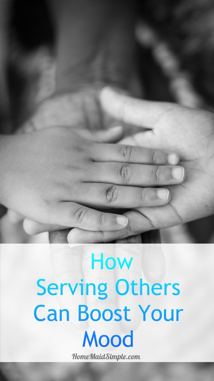 giving service CAN boost your mood